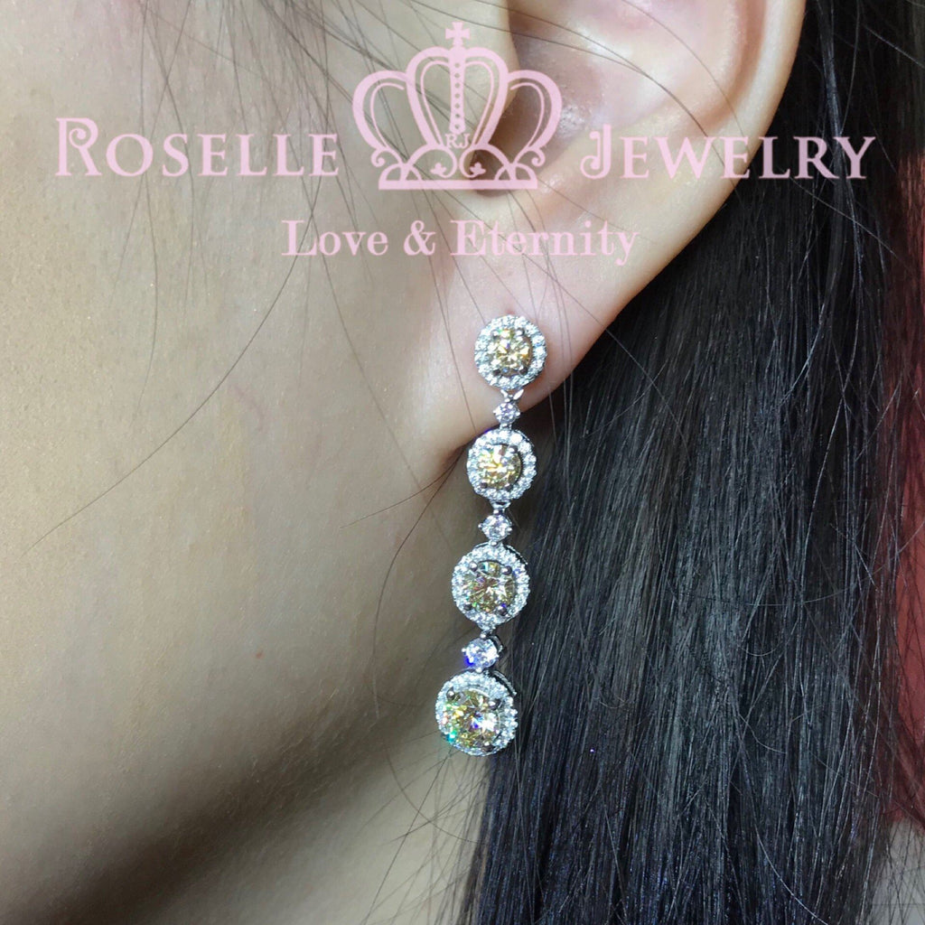 Fashion Halo Drop Earrings - DE10 - Roselle Jewelry