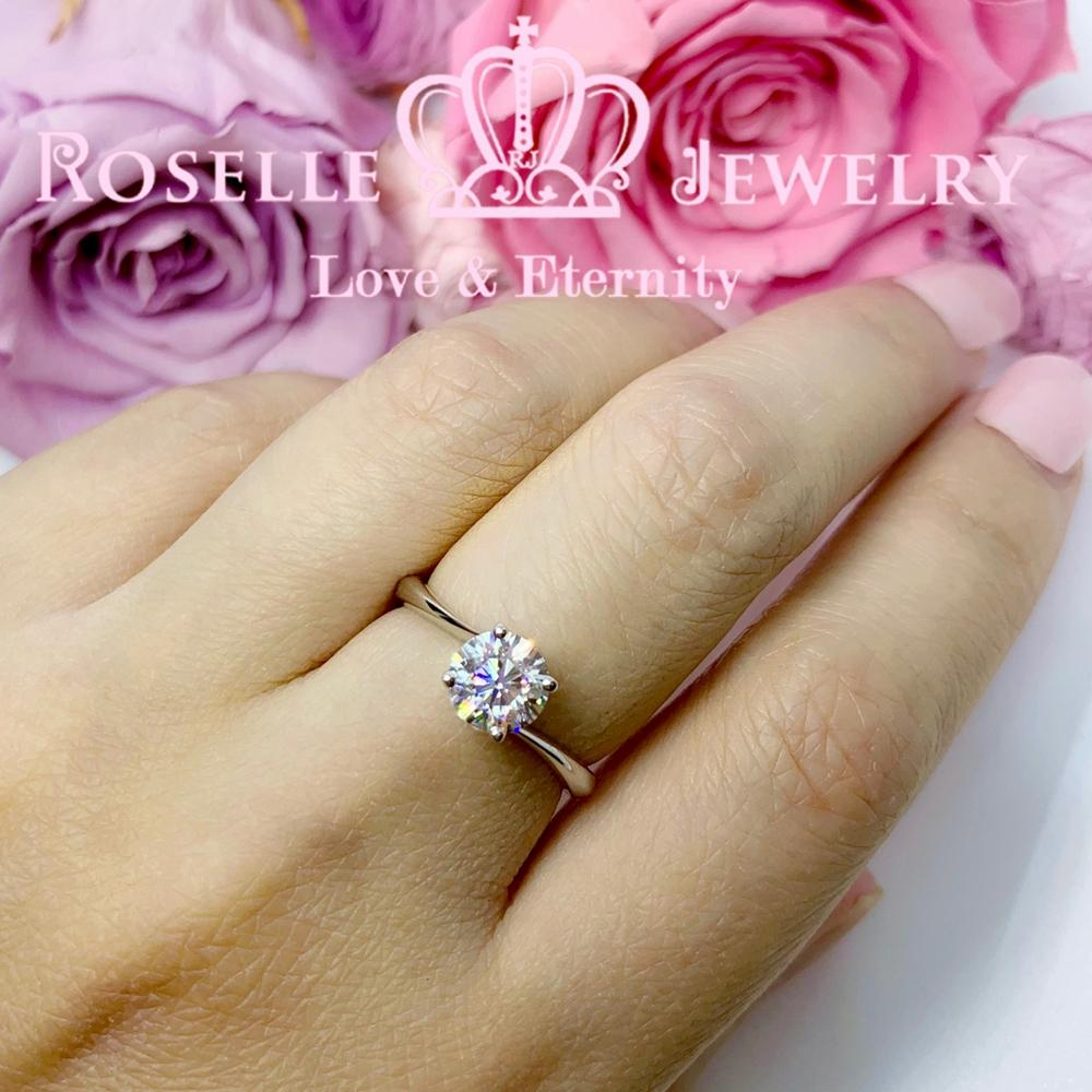 Four Prong Twist Setting Engagement Ring - NT14 - Roselle Jewelry