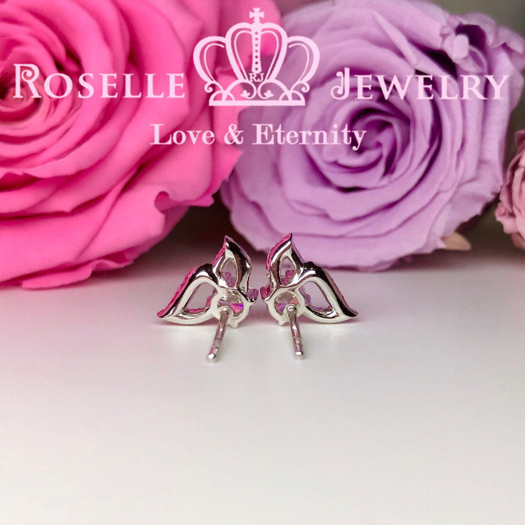 Detachable Butterfly Drop Earrings - DE7 - Roselle Jewelry