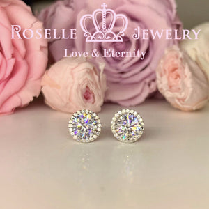 1.00CT Detachable Floral Stud Earrings - RR10
