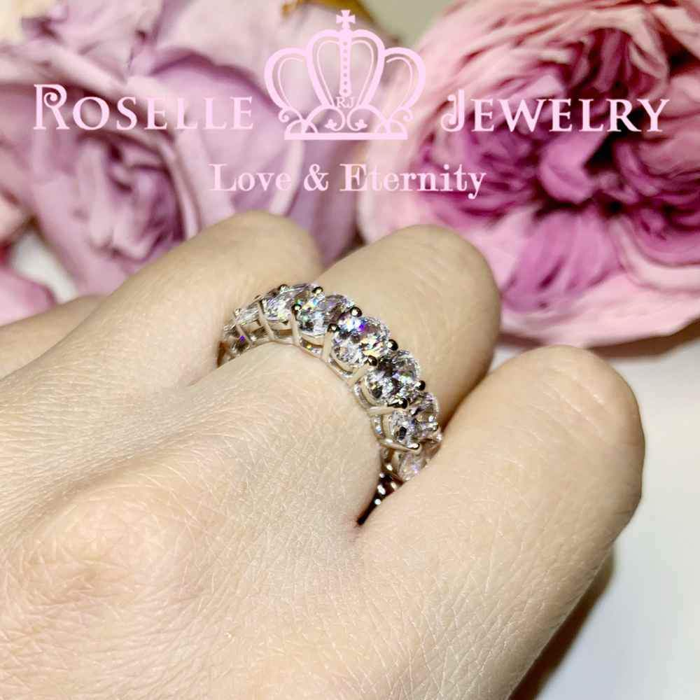 Oval Eternity Wedding Ring - BH4 - Roselle Jewelry