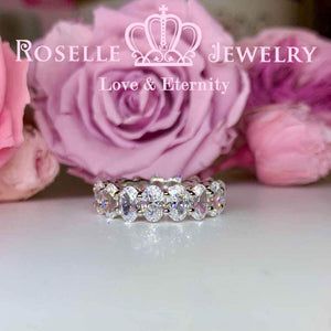 Oval Eternity Wedding Ring - BH4