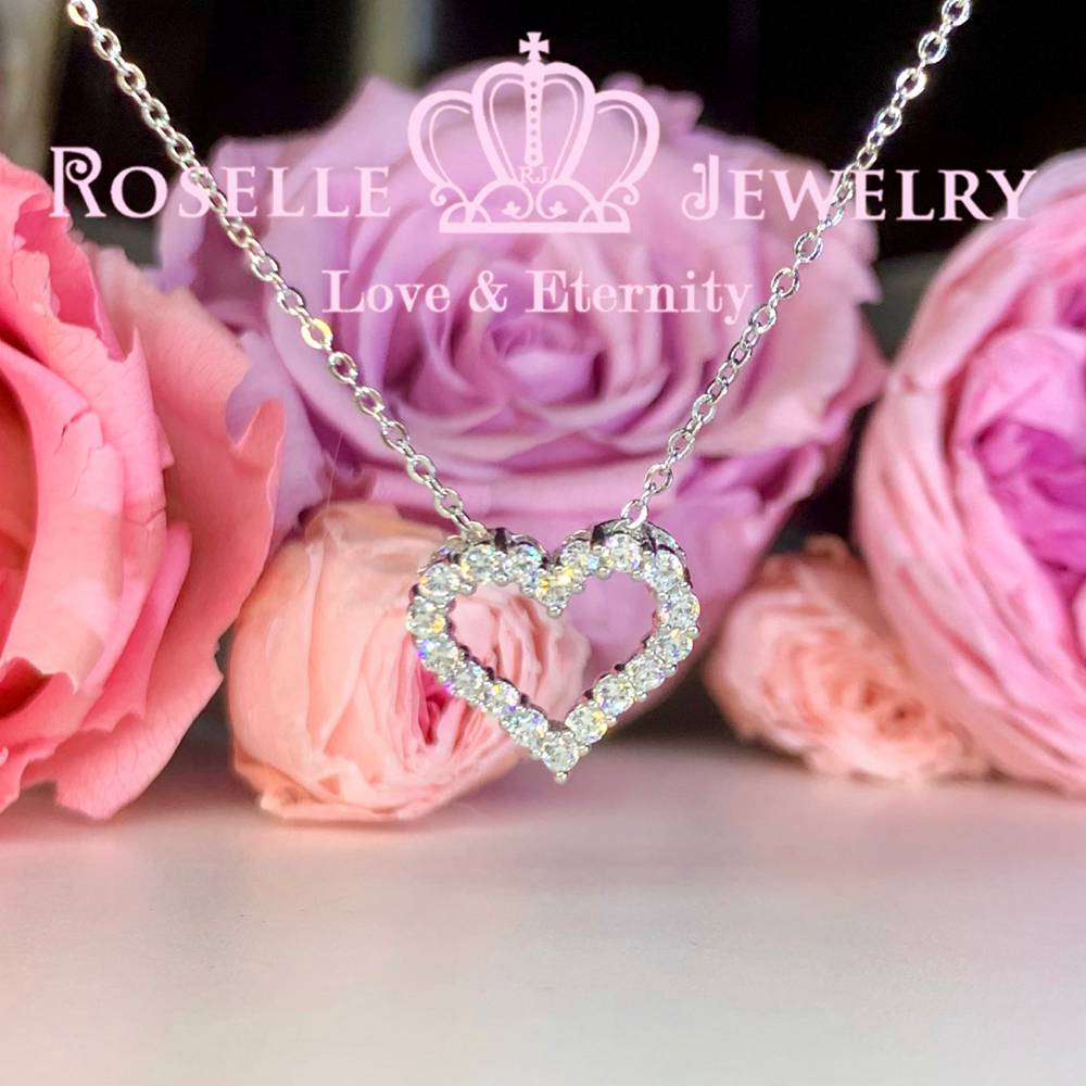 Heart Shape Drop Pendants - HC5 - Roselle Jewelry