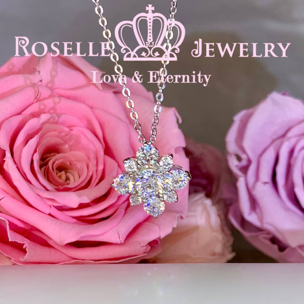 Floral Drop Pendants - CR4 - Roselle Jewelry