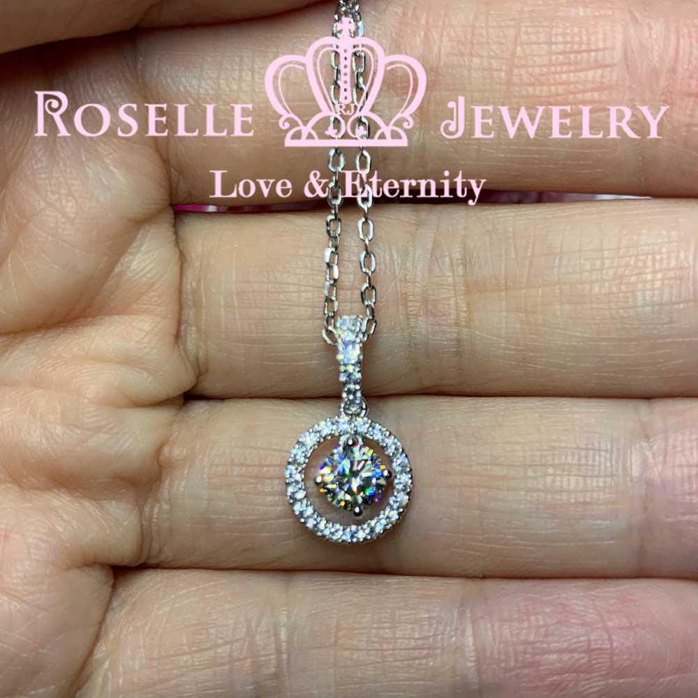 0.50CT Halo Drop Pendants - C13 - Roselle Jewelry