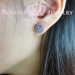Detachable Halo Stud Earrings - RR5