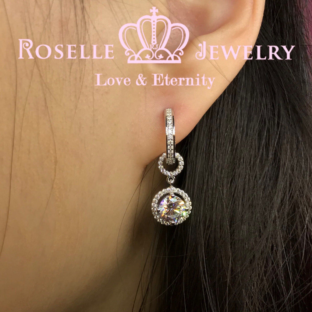 Detachable Hoop Drop Earrings - DE14 - Roselle Jewelry