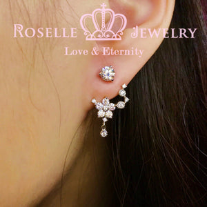 Detachable Floral Stud Earrings - JE2