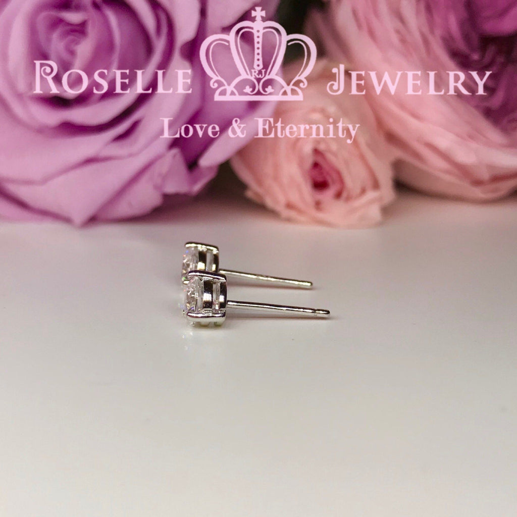 Detachable Floral Stud Earrings - JE2 - Roselle Jewelry