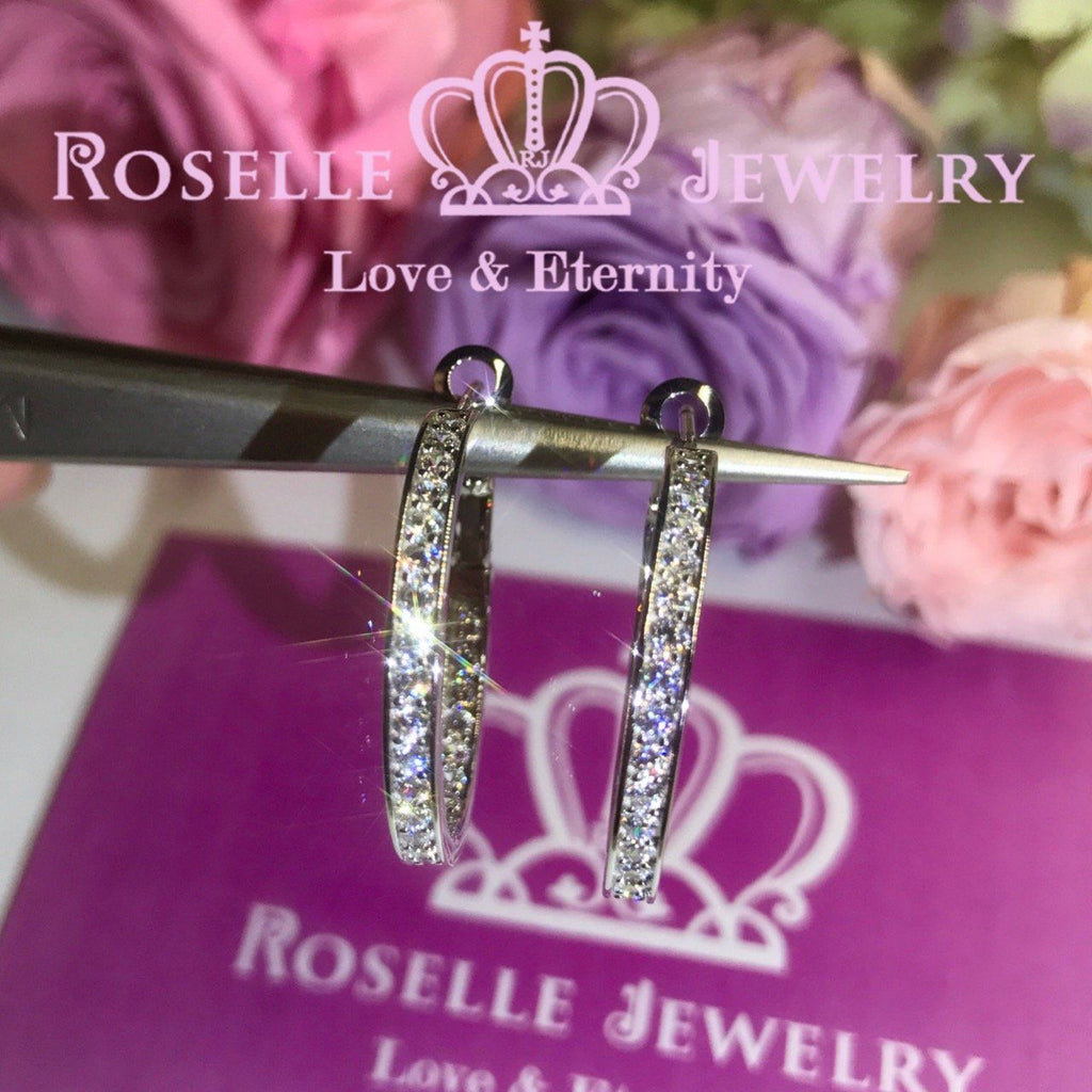 Fashion Hoop Earrings - RE2 - Roselle Jewelry