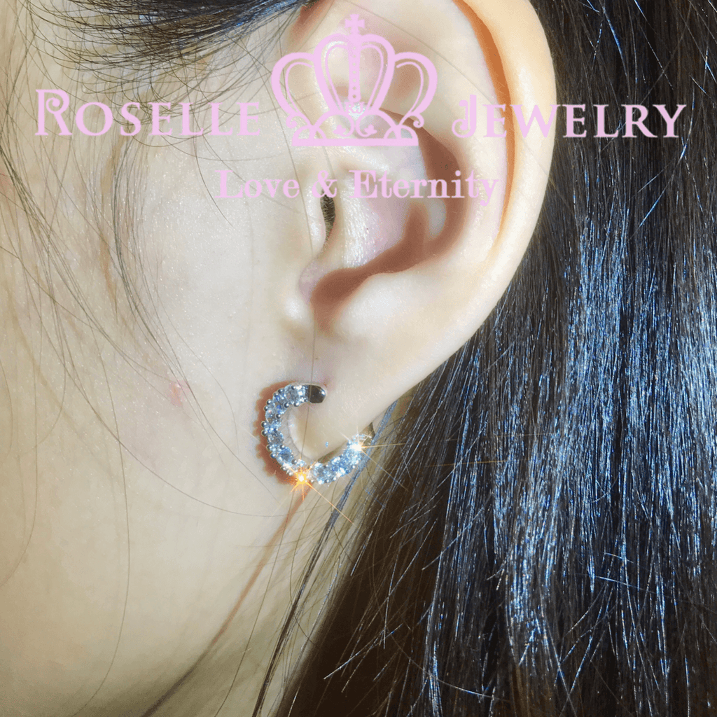 Front Back Hoop Fashion Earrings - RR3 - Roselle Jewelry