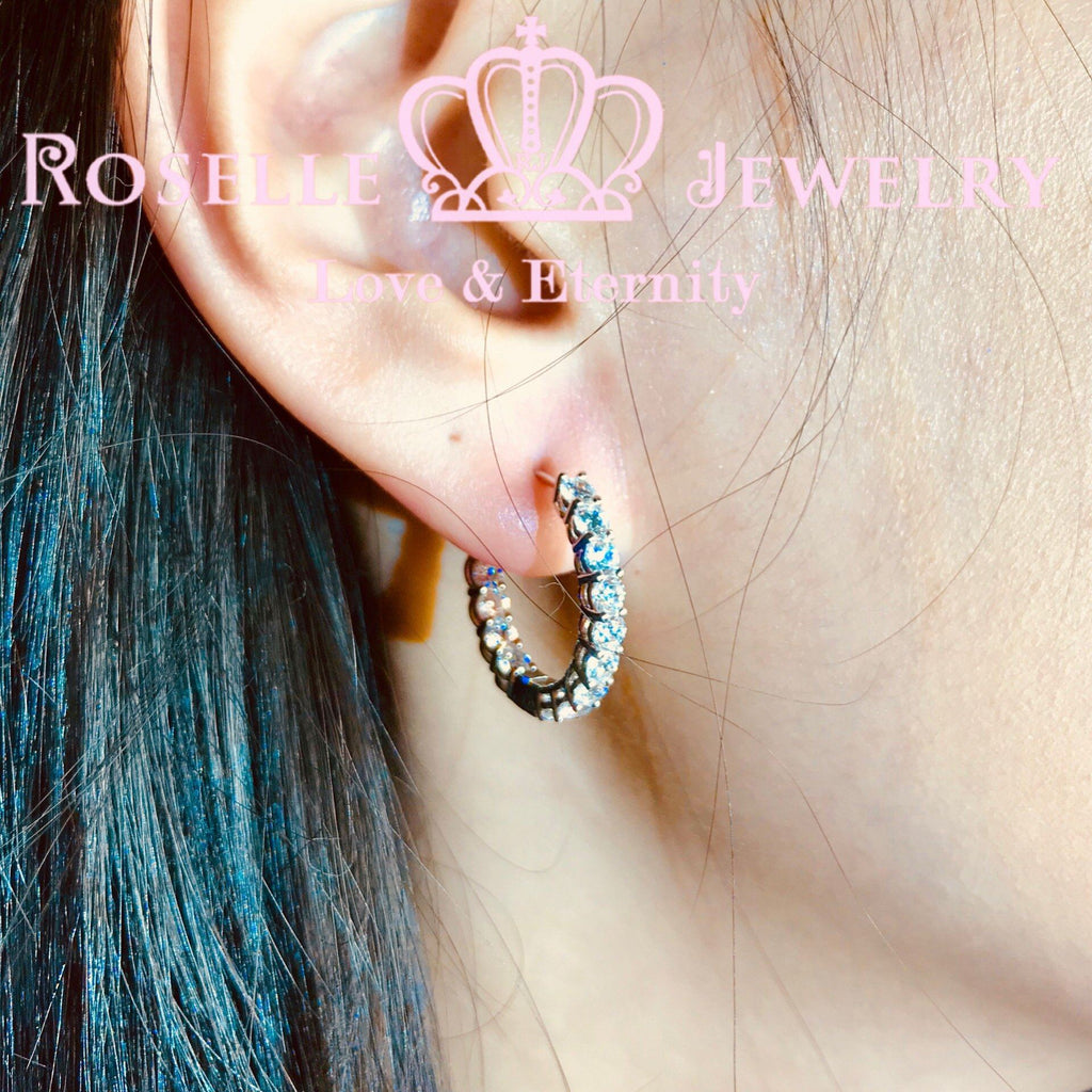 Classic Hoop Earrings - RE4 - Roselle Jewelry