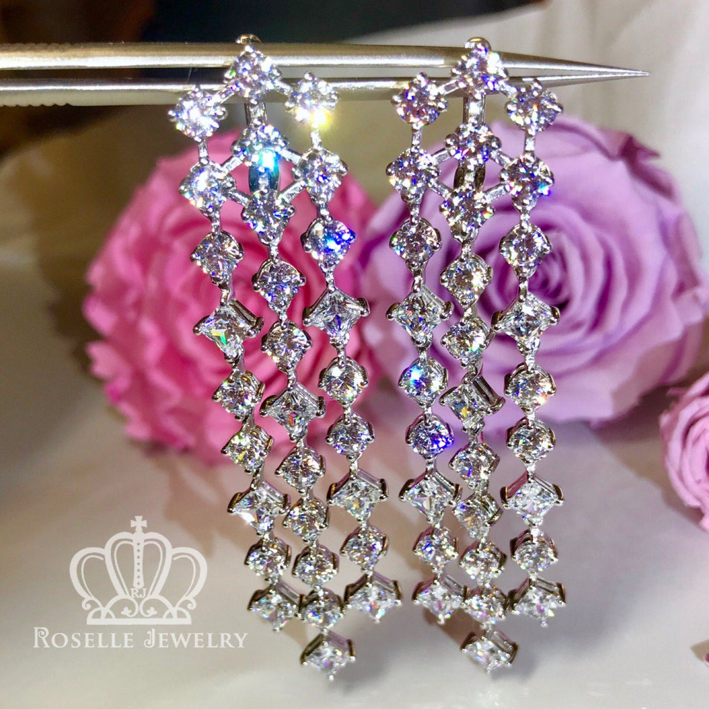 Cocktail Drop Earrings - VE3 - Roselle Jewelry