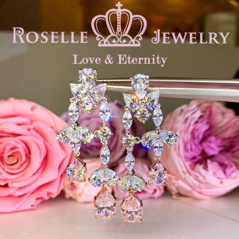 Pear Cut Drop Earrings - PE3 - Roselle Jewelry