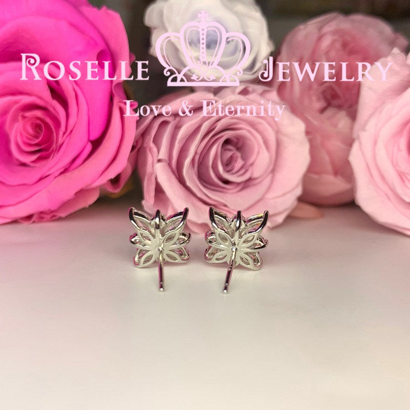 Marquise Floral Star Cluster Stud Earrings - EM4 - Roselle Jewelry