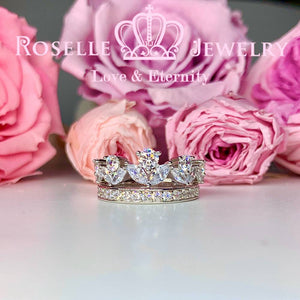 Crown Side Stone Engagement Ring Setting - TN2S