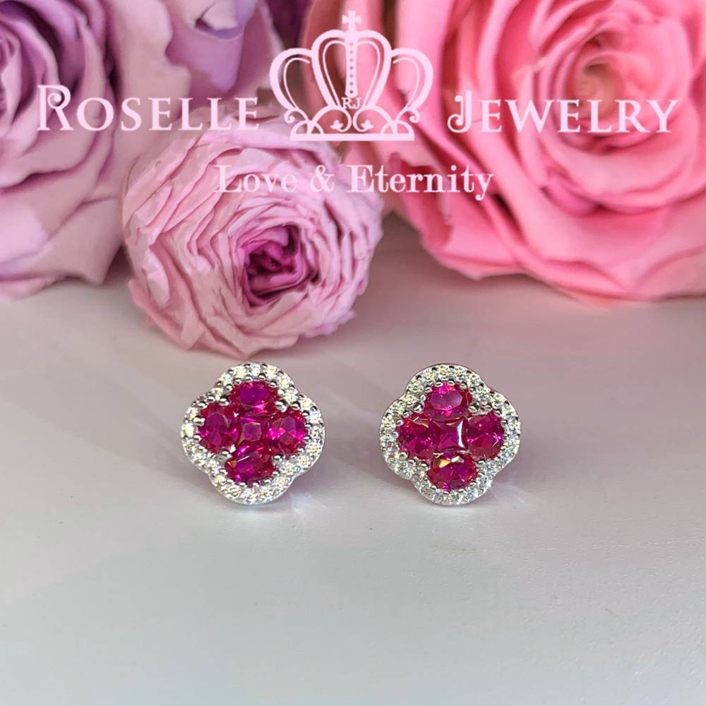 Floral Stud Earrings - EF2 - Roselle Jewelry