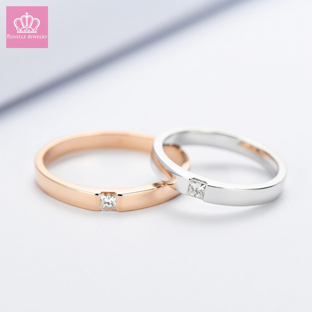 Charlisa™ Couple Wedding Rings - CC001 - Roselle Jewelry