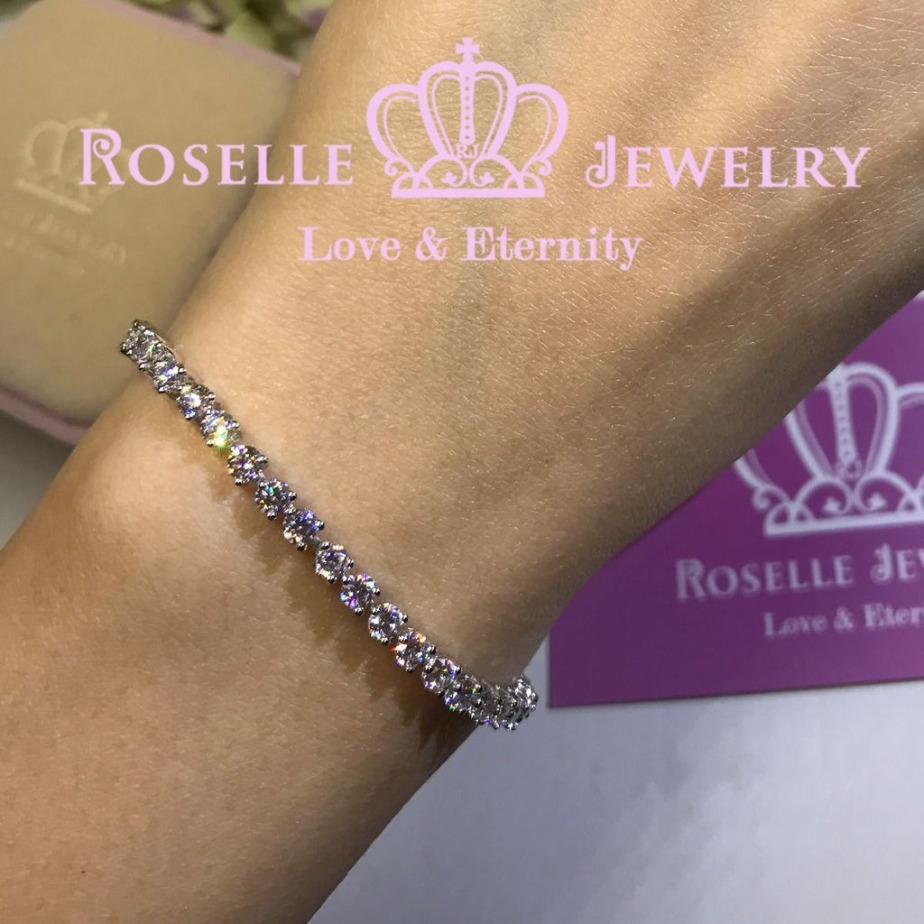Round Brilliant Cut Tennis Bracelet - B102 - Roselle Jewelry