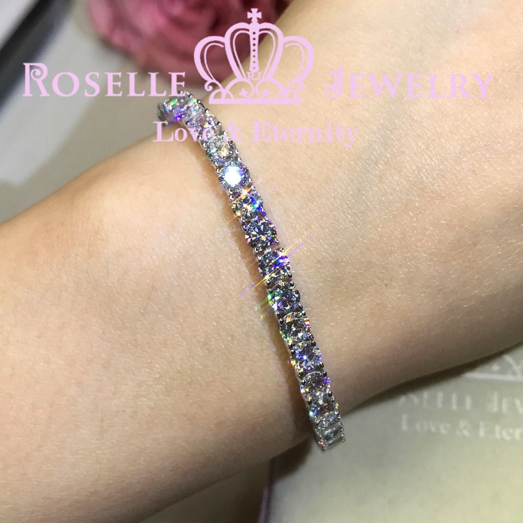 Round Brilliant Cut Tennis Bracelet - B25 - Roselle Jewelry