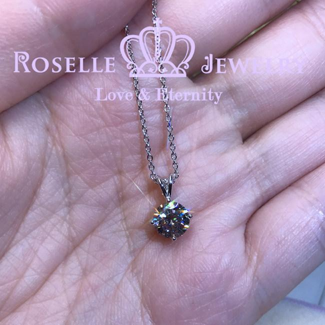 Four Prong Solitaire Pendant - C9 - Roselle Jewelry