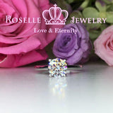 Four Prong Little Side Stone Engagement Ring - E29