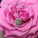 Cushion Cut Halo Engagement Ring - WY1PY1FY1