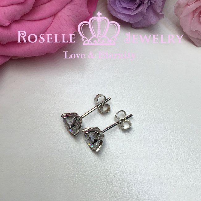 Six Prong Stud Earrings - H65 - Roselle Jewelry