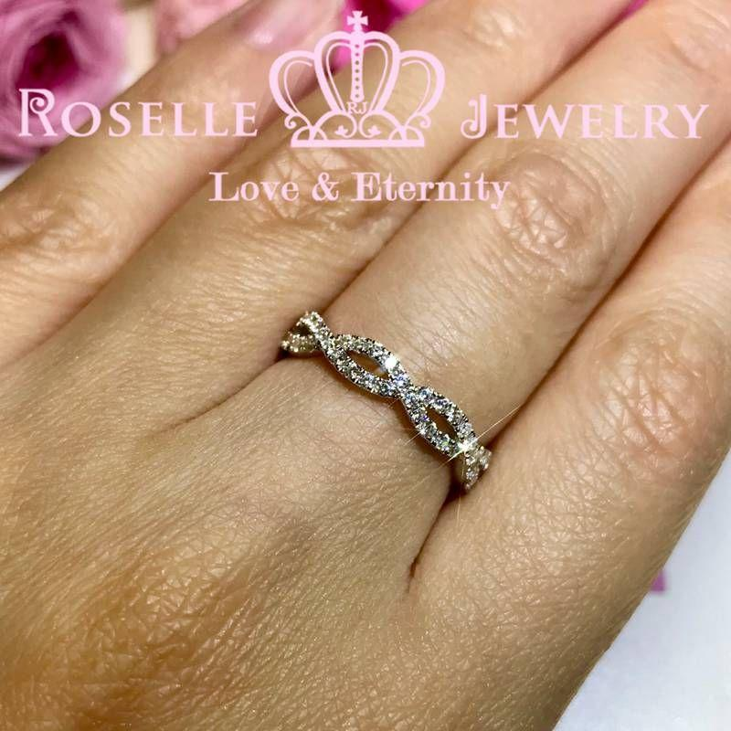 Twist Band Wedding Ring - BA35 - Roselle Jewelry