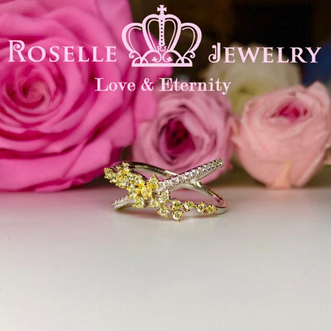 Twist Fancy Yellow Wedding Ring - BA28 - Roselle Jewelry
