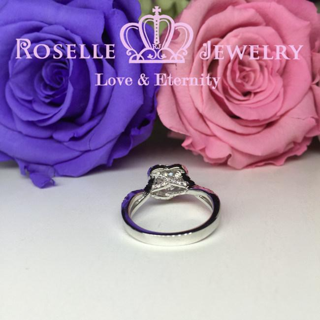 Heart Shape Halo Engagement Ring - V6 - Roselle Jewelry