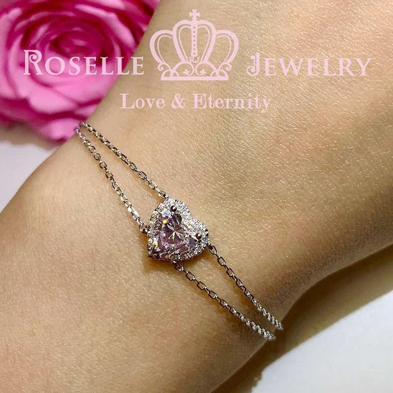 Heart Shape Halo Bracelet - BS11 - Roselle Jewelry