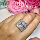 Lace Floral Fasion Rings - BA39