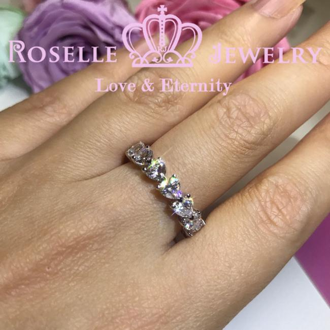 Heart Shape Eternity Wedding Ring -BH1 - Roselle Jewelry