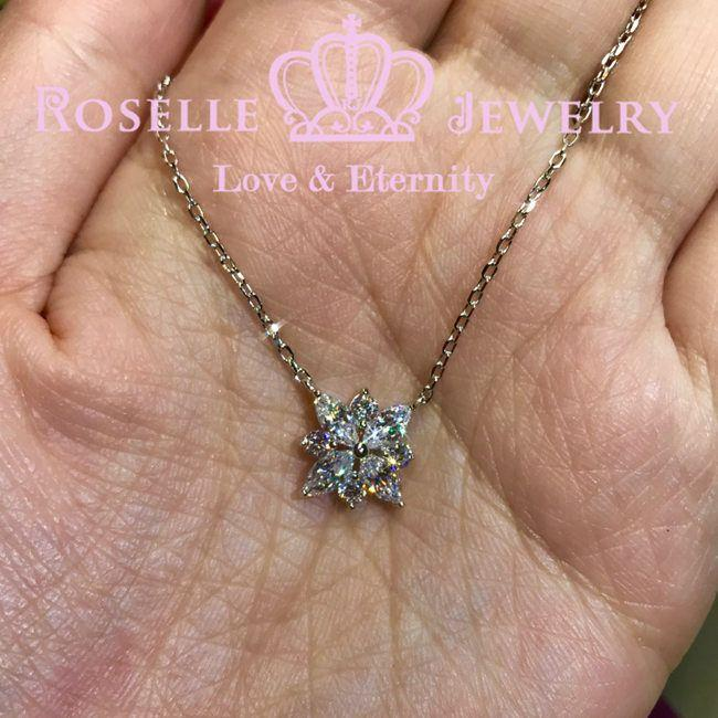 Marquise Clusters Drop Pendants - MC2 - Roselle Jewelry