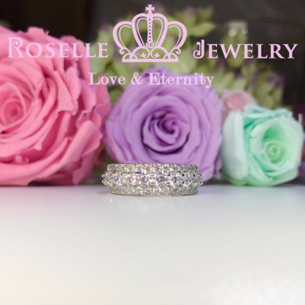 Three Rows Fashion Ring - BA31 - Roselle Jewelry