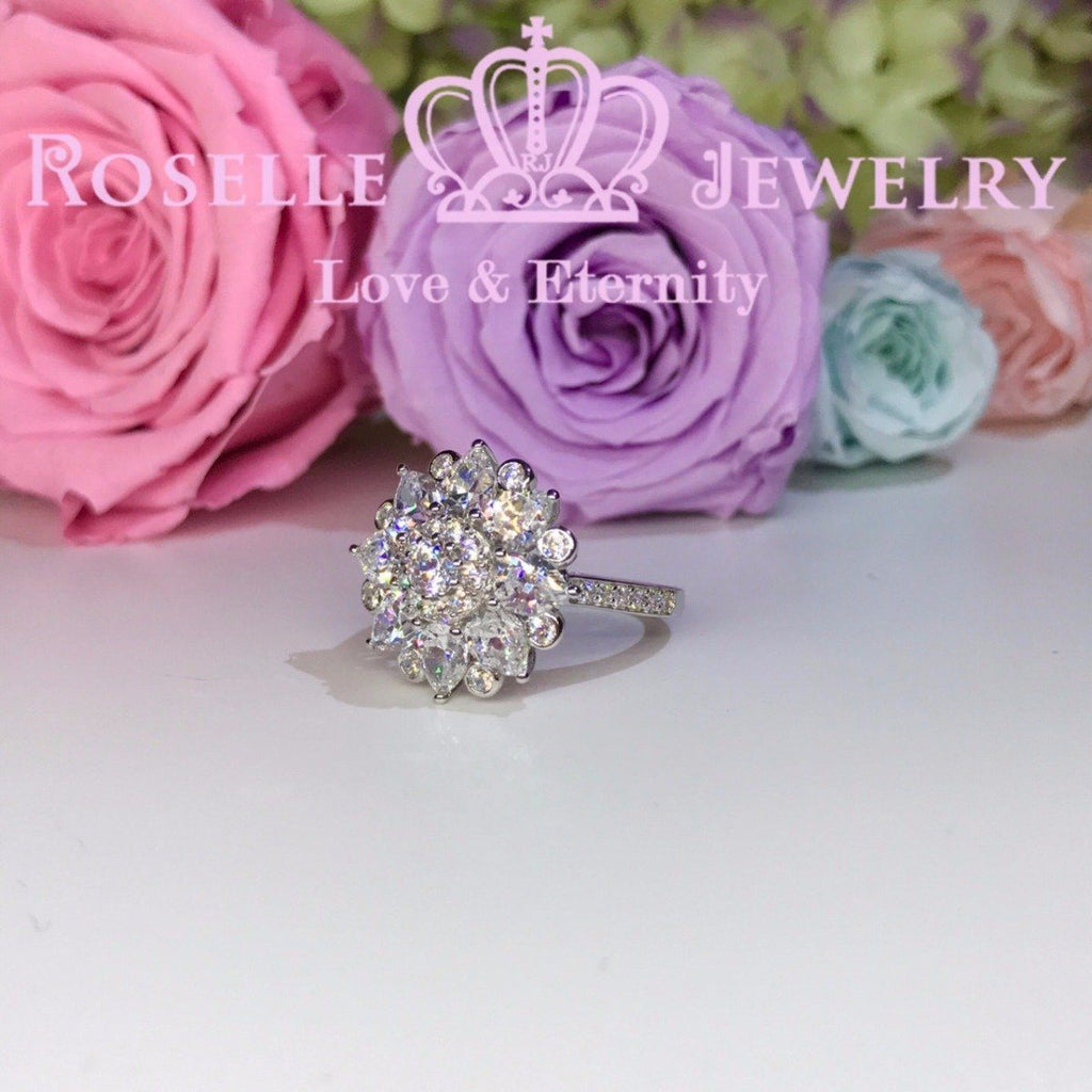 Floral Fashion Ring - BA19 - Roselle Jewelry