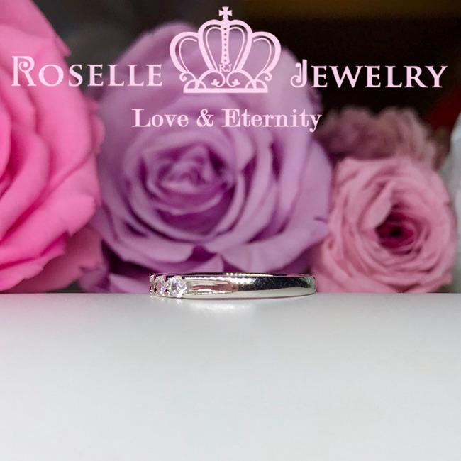 Seven Stone Common Prong Wedding Ring - BA9 - Roselle Jewelry