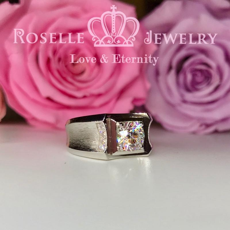 Side Stone Men's Ring - TM2 - Roselle Jewelry