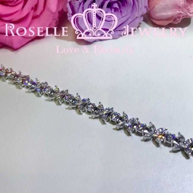 Marquise Shaped Tennis Bracelet - BE3 - Roselle Jewelry