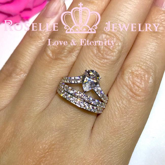 Pear Cut Fashion Engagement Ring - VP4 - Roselle Jewelry