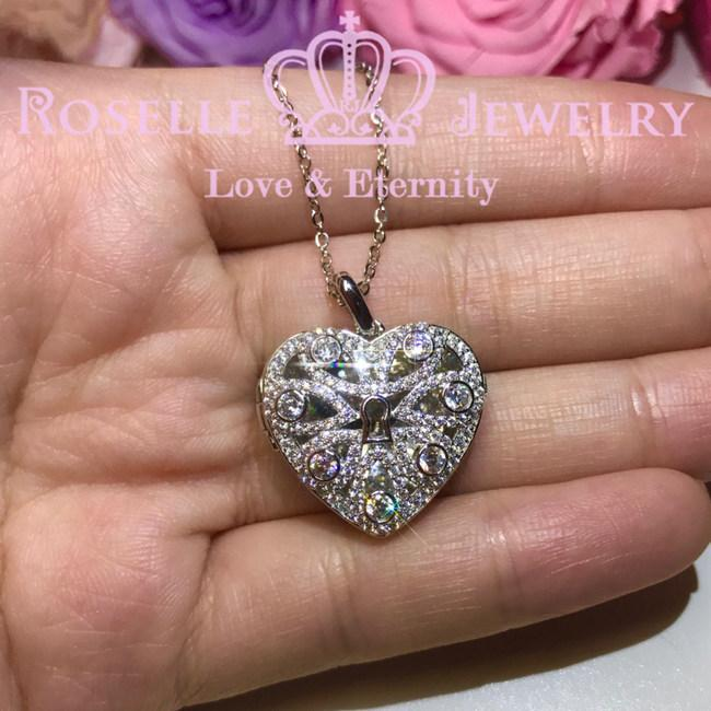 Heart Shape Uncover Pendants - PC1 - Roselle Jewelry