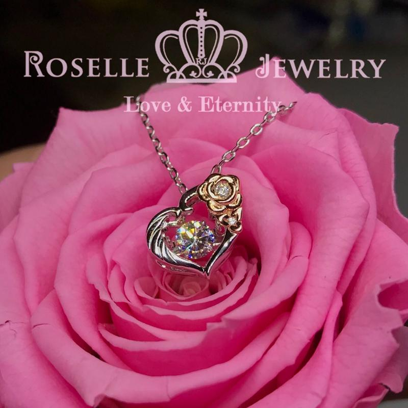 Floral Dancing Stone Pendants - CD11 - Roselle Jewelry
