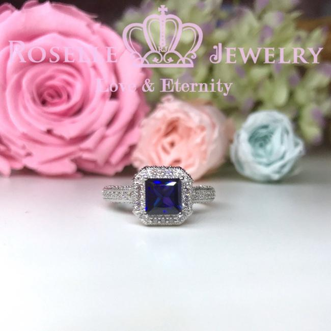 Princess Cut Halo Engagement ring - SS1 - Roselle Jewelry