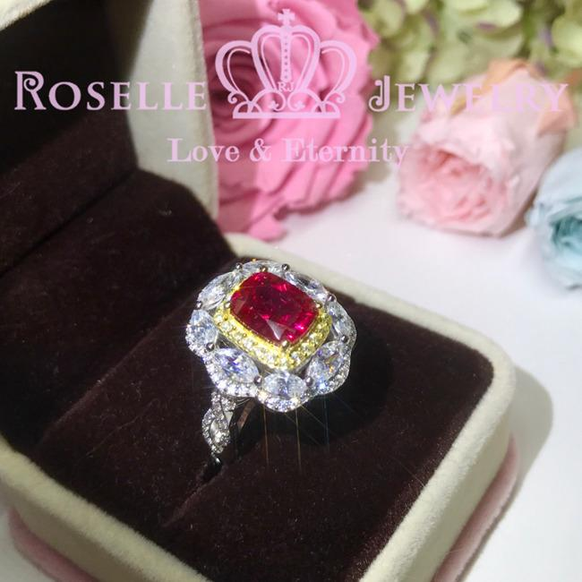 All In One Lab Grown Ruby Fashion Ring - MR2 - Roselle Jewelry