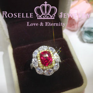 All In One Lab Grown Ruby Fashion Ring - MR2