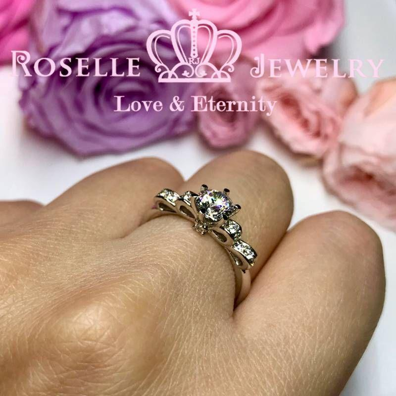 Bow Fashion Engagement Ring - TB3 - Roselle Jewelry