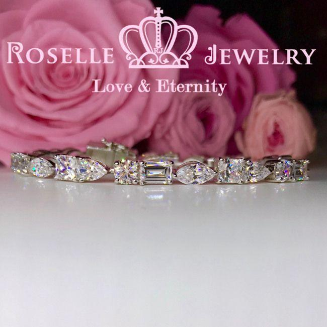 Marquise Shaped Tennis Bracelet - BE2 - Roselle Jewelry