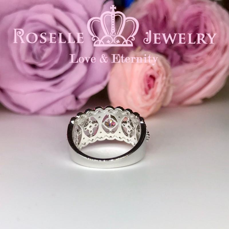 Lace vintage Floral Wedding Ring - BV5 - Roselle Jewelry