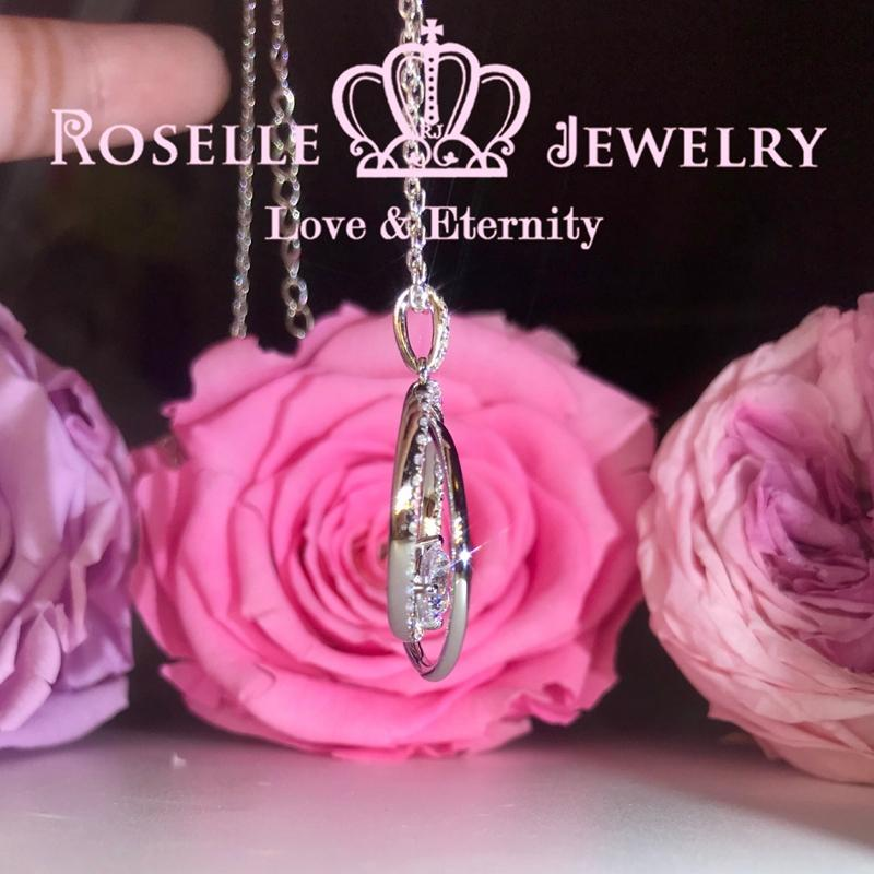Dazzling Halo Drop Pendants - RC5 - Roselle Jewelry
